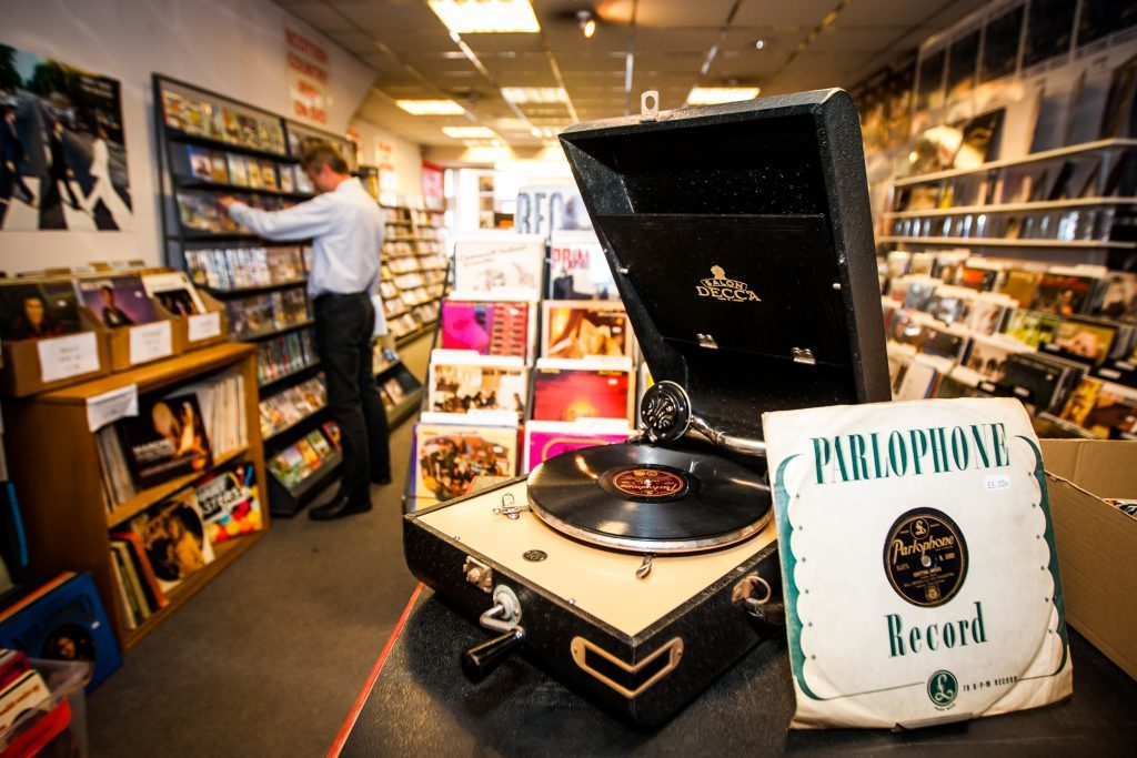 Concorde Records also sells records players