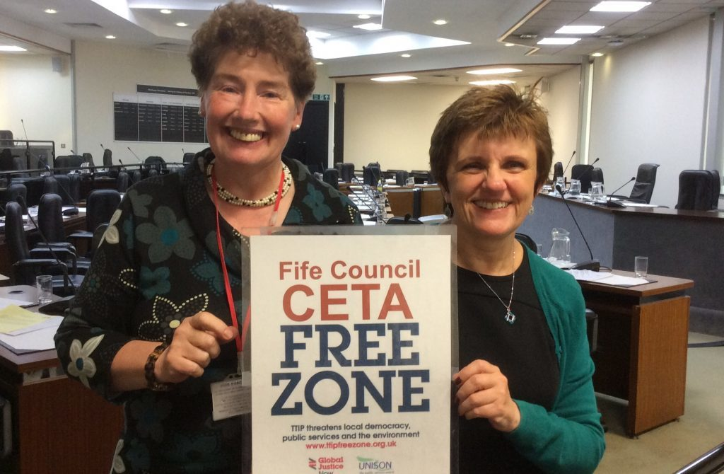 Cllr Mary Lockhart, left, has apologised for causing any offence over a social media post.