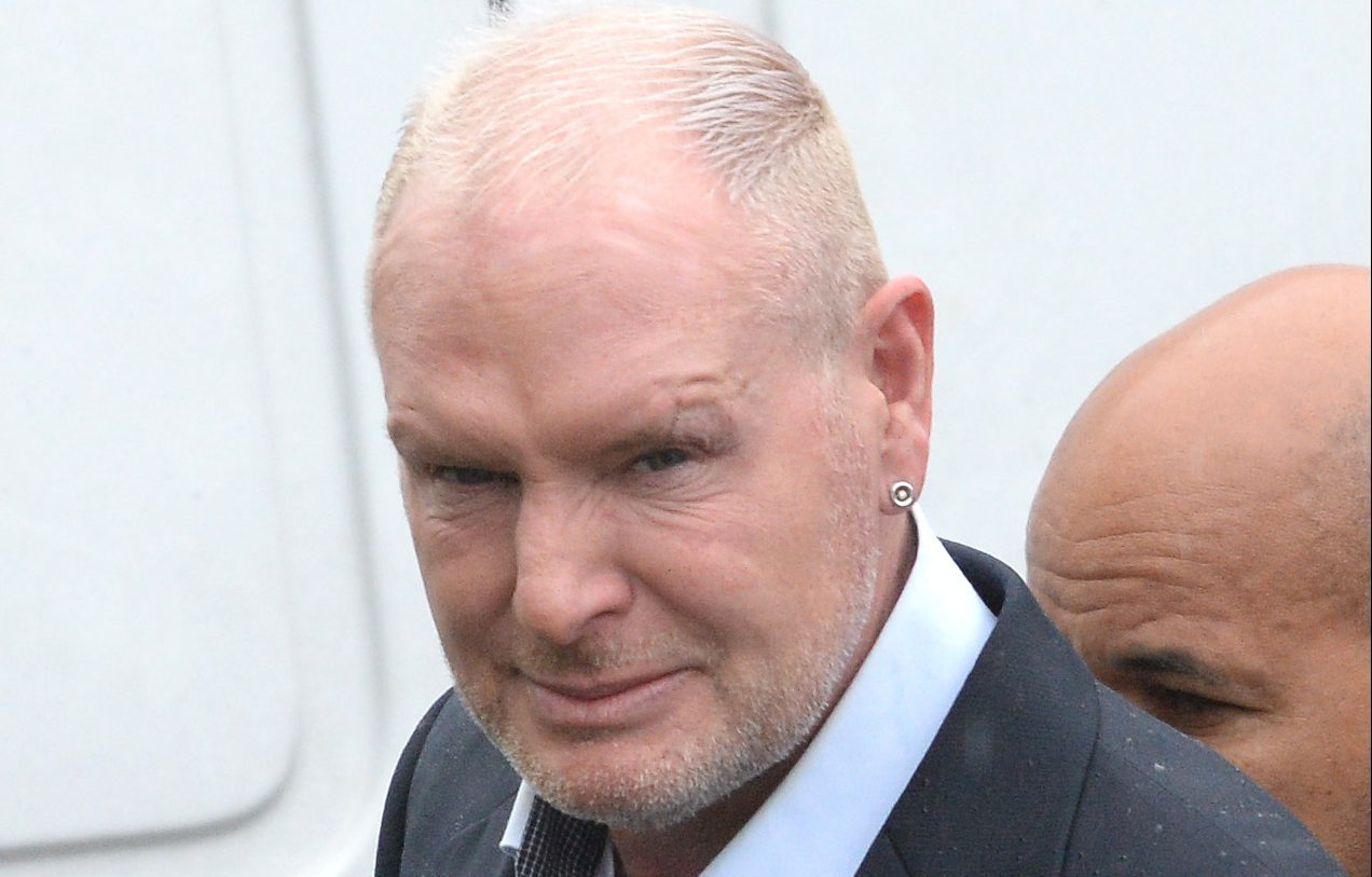 Footballer Paul Gascoigne arriving at Dudley Magistrates Court in the west Midlands where he is accused of racially aggravated abuse at one of his 'An Evening With Gazza' shows last autumn.
