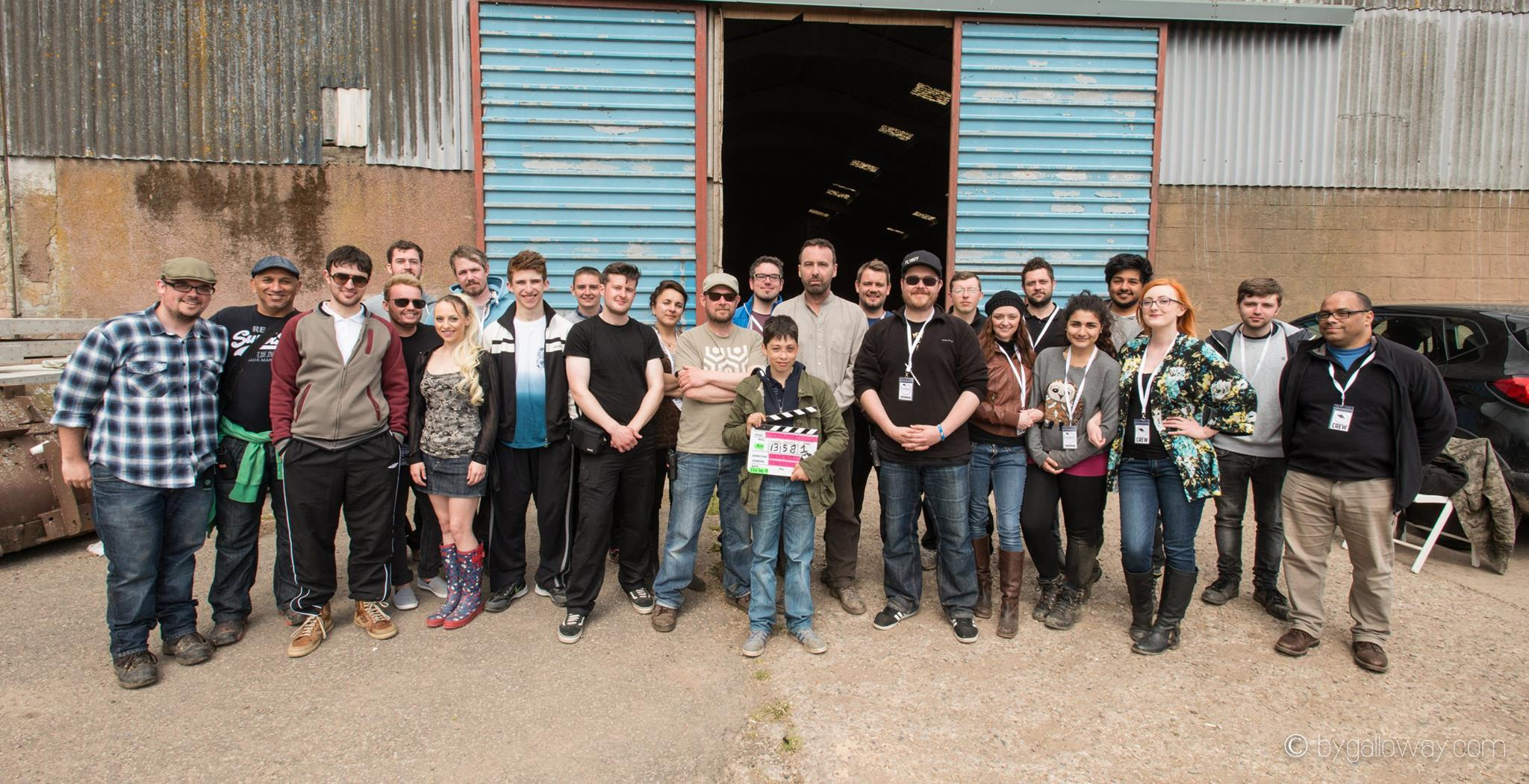 The cast and crew of Crowman