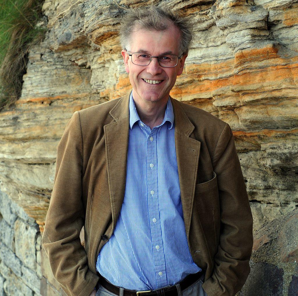 Professor Robert Crawford at Castle Sands, St Andrews
