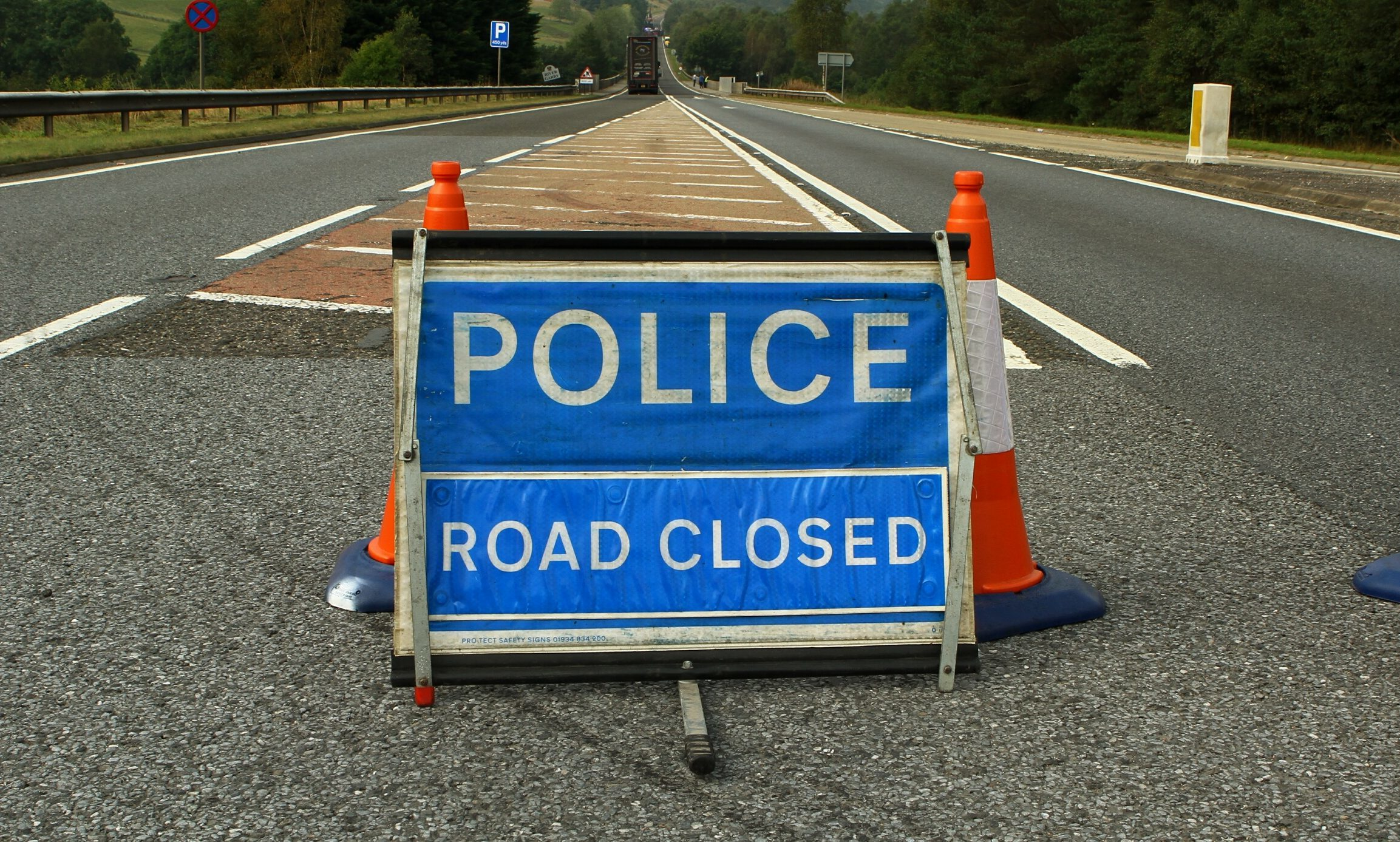The A9 northbound was closed at the Blair Atholl turn-off.