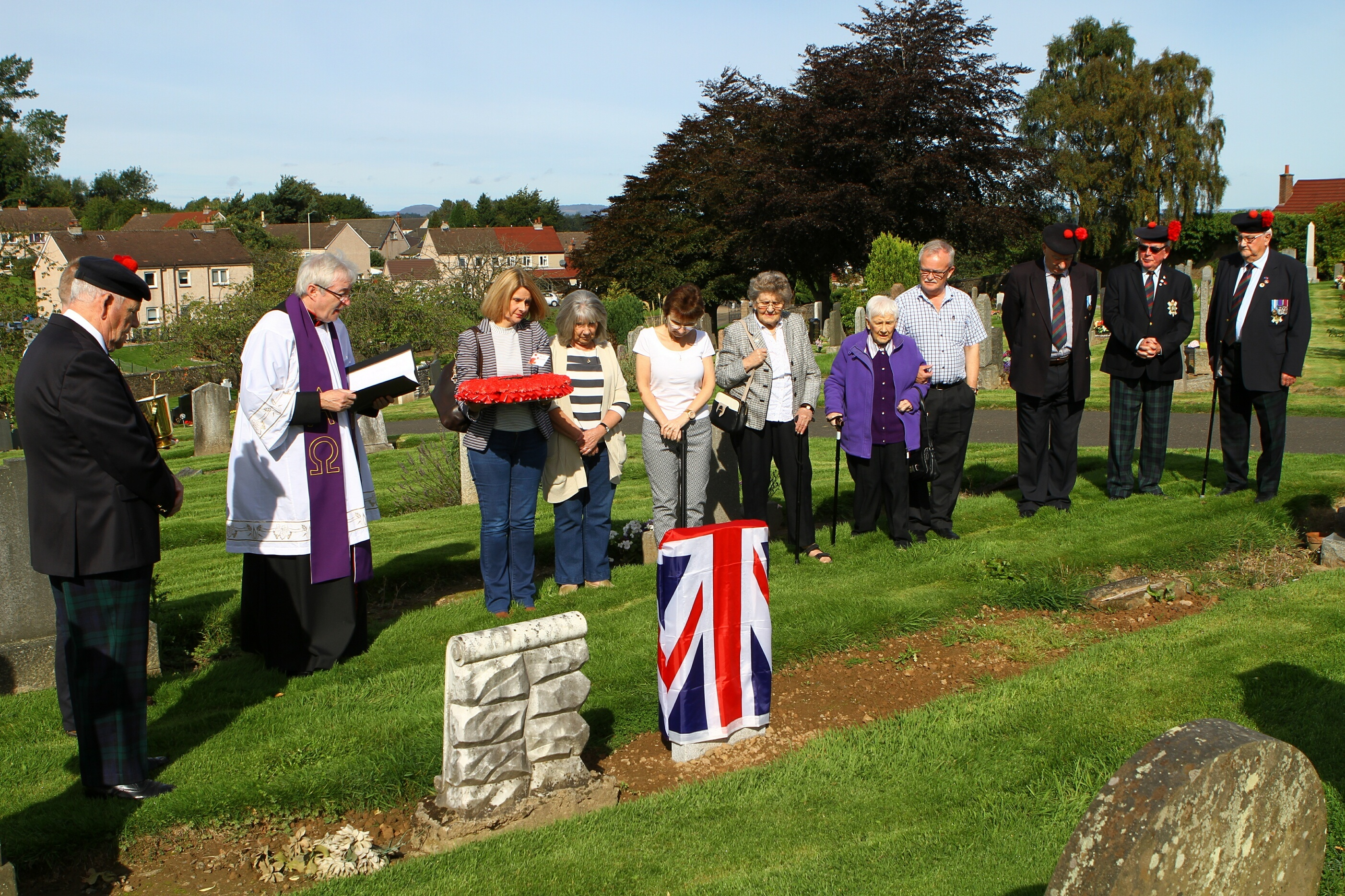 The ceremony at Wellshill Cemetery.