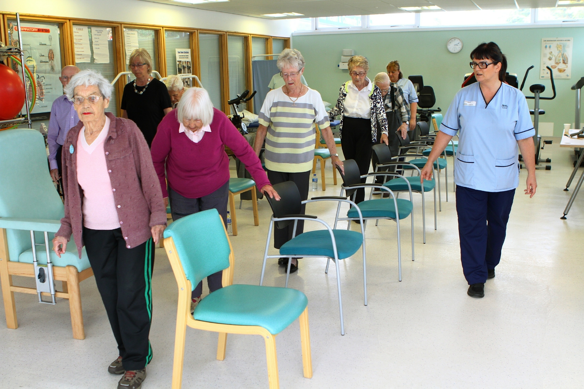 The Falls Prevention Group at Kings Cross Health & Community Care Centre in Dundee.