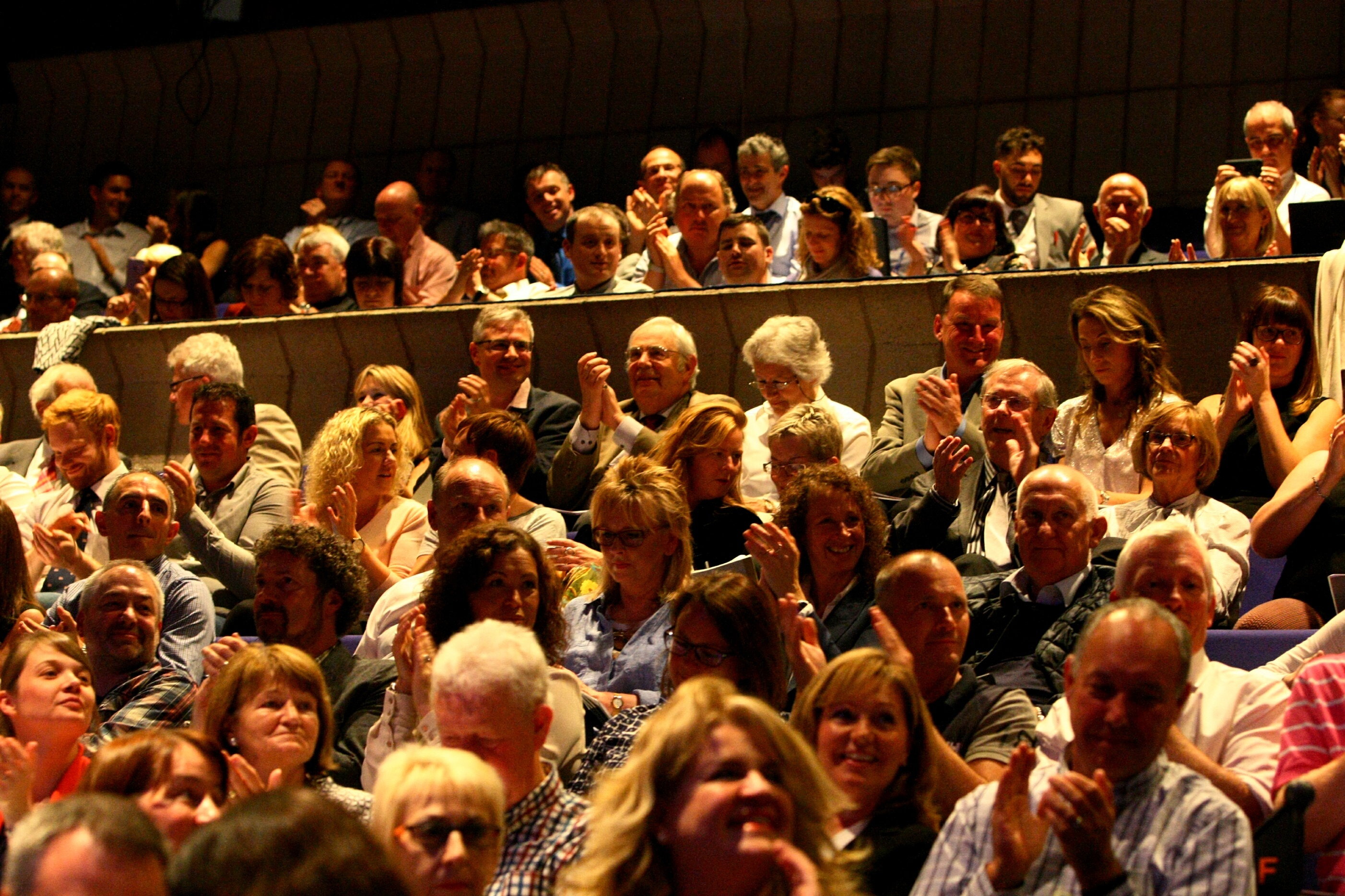 Part of the audience at the Dundee Rep, at the auction of the Oor Wullie Bucket Trail figures.