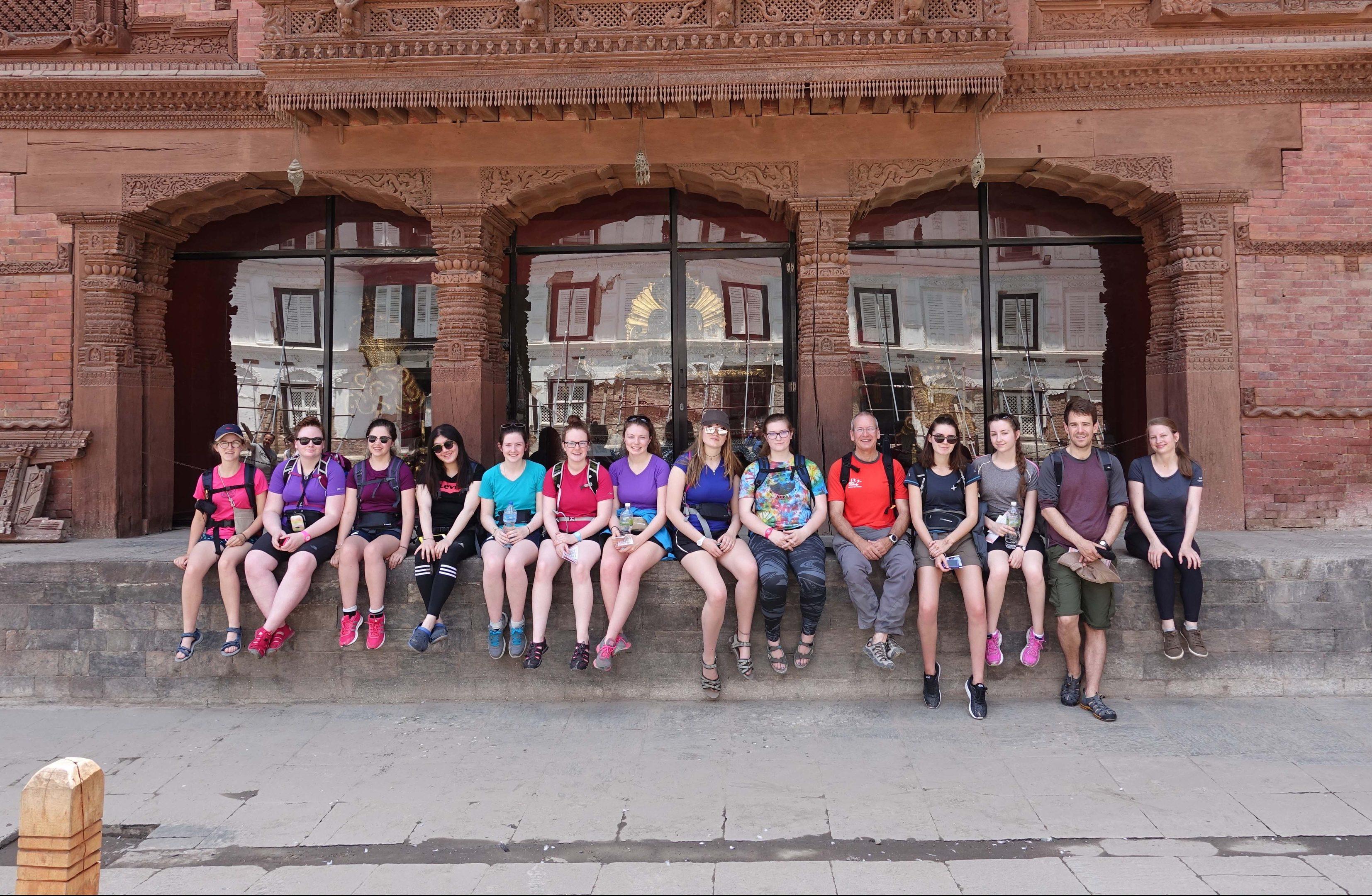 The Kilgraston group in Nepal.