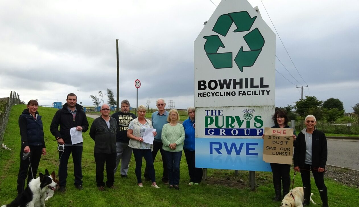 Members of the local community are protesting over expansion plans at the site