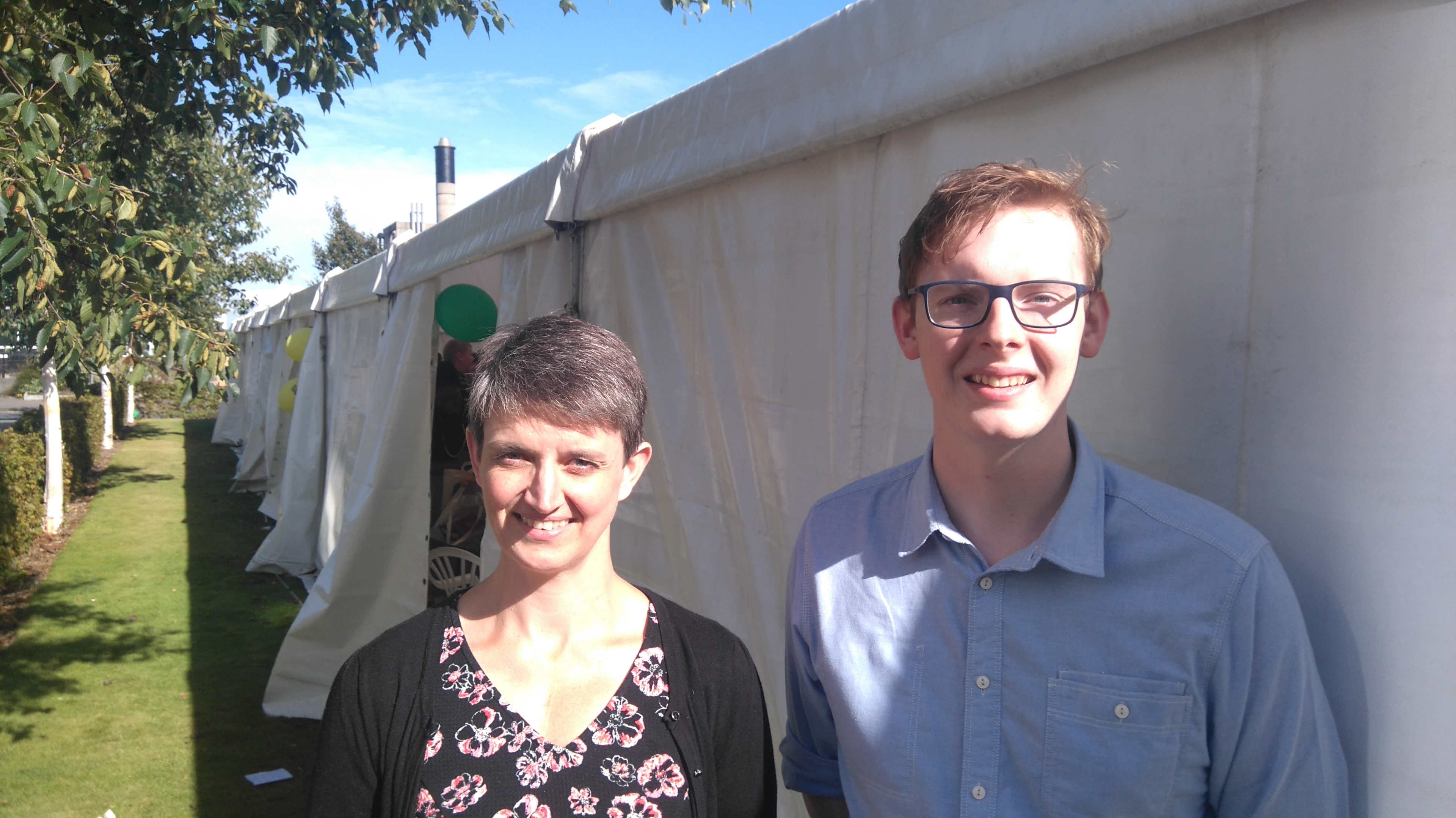 Scottish Green Party co-convener Maggie Chapman and Care for Caird activist Craig Forstyh