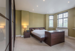 One of the six large bedrooms
