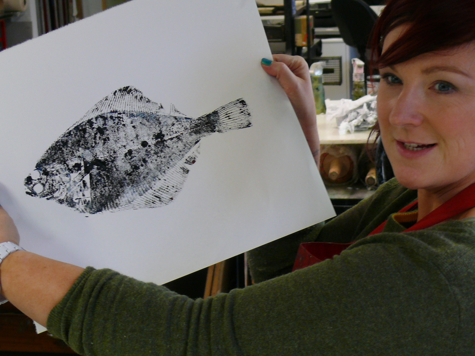 The previous fish printing course at the DCA was deemed a success.