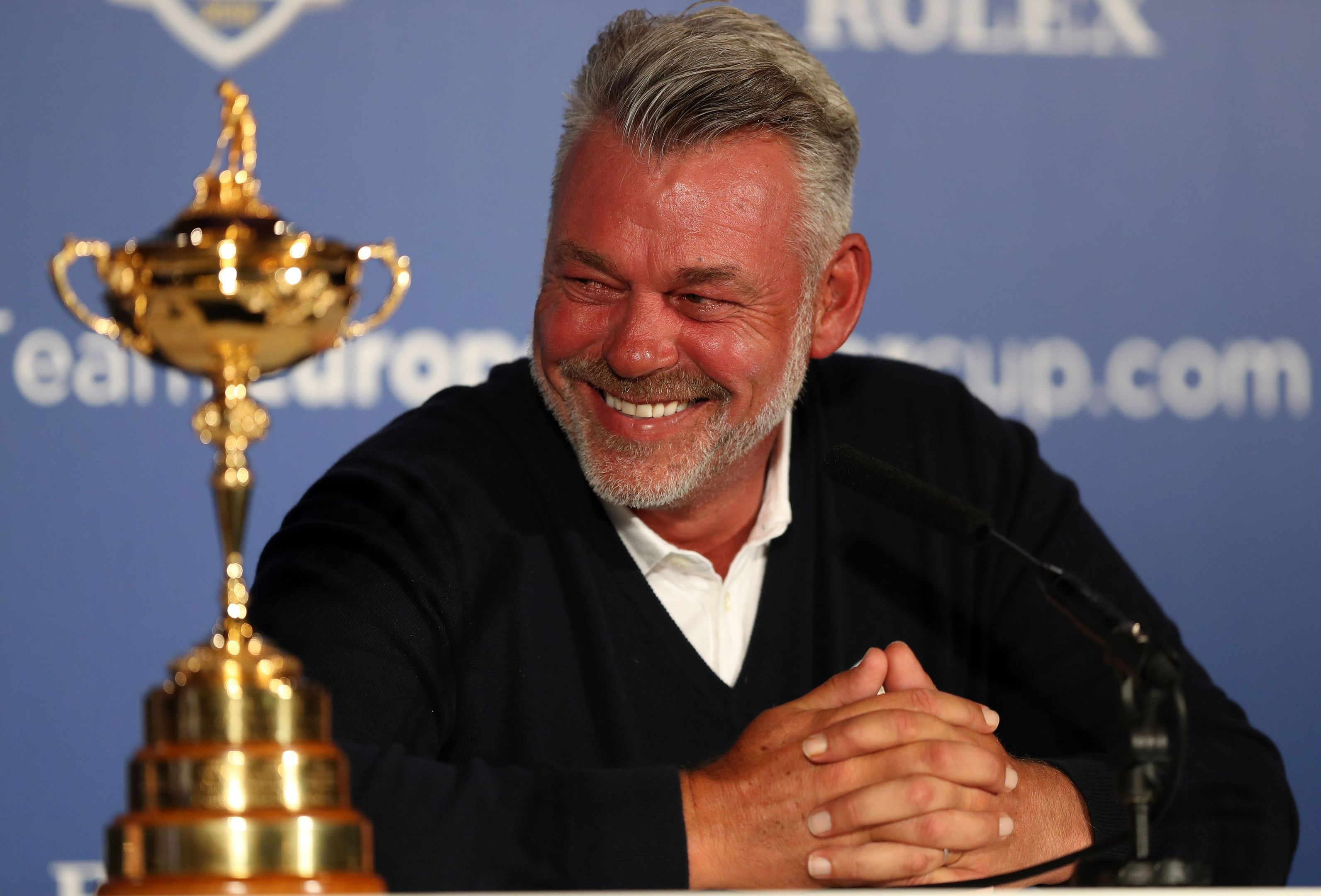 Darren Clarke has good reason to be smiling.