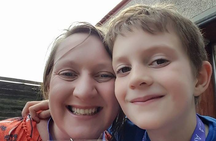 Gemma Lessells and her son Matty.
