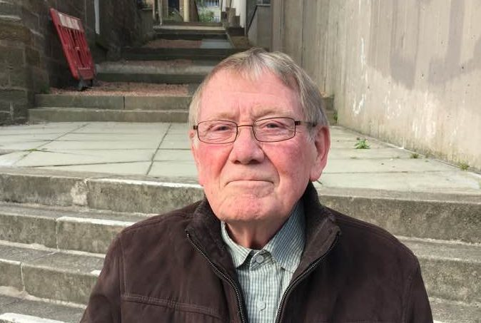 George Lawson, 80, has no objection to the airport expansion plans.