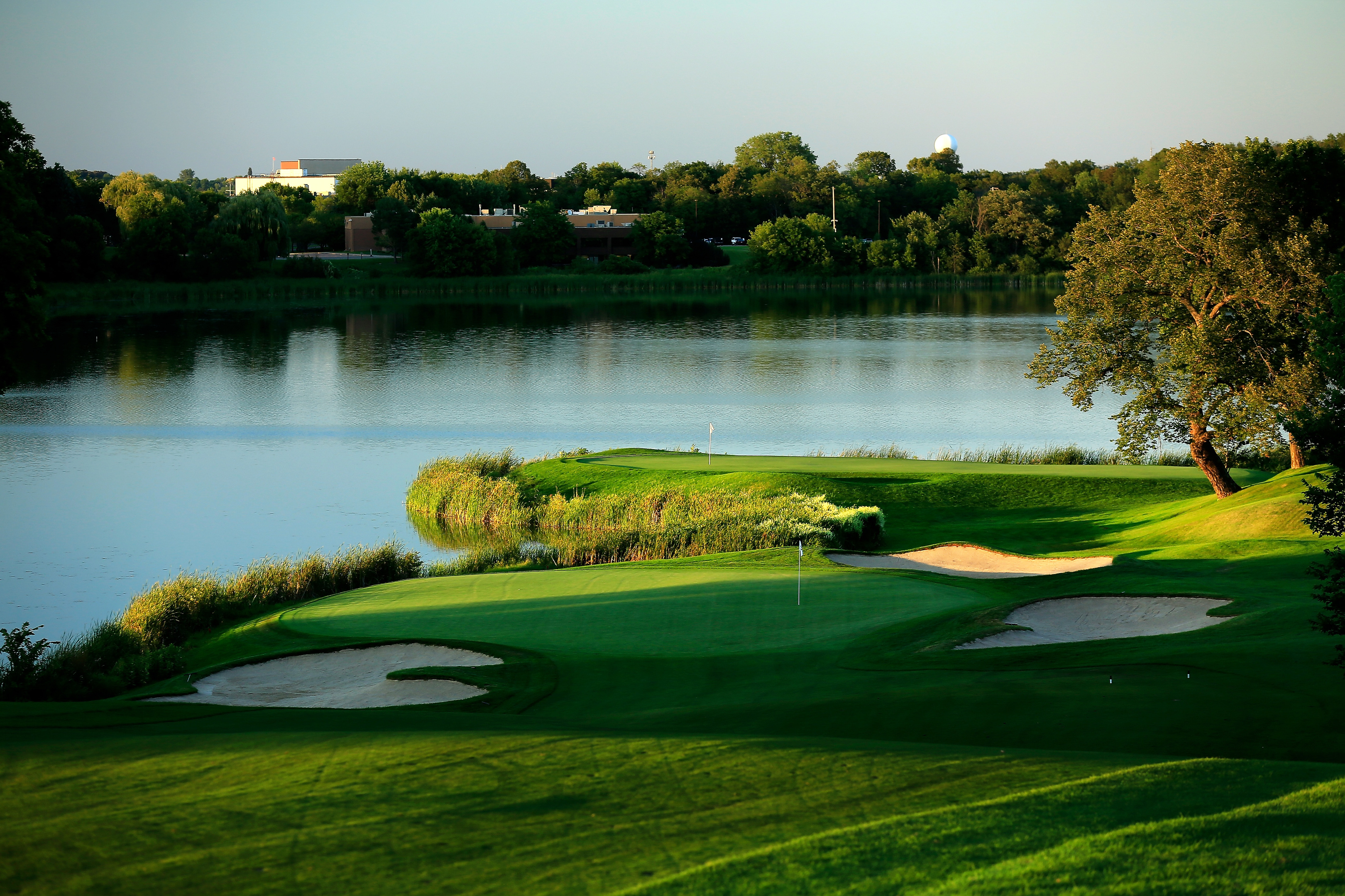 The 10th at Hazeltine, scene of this week's Ryder Cup.