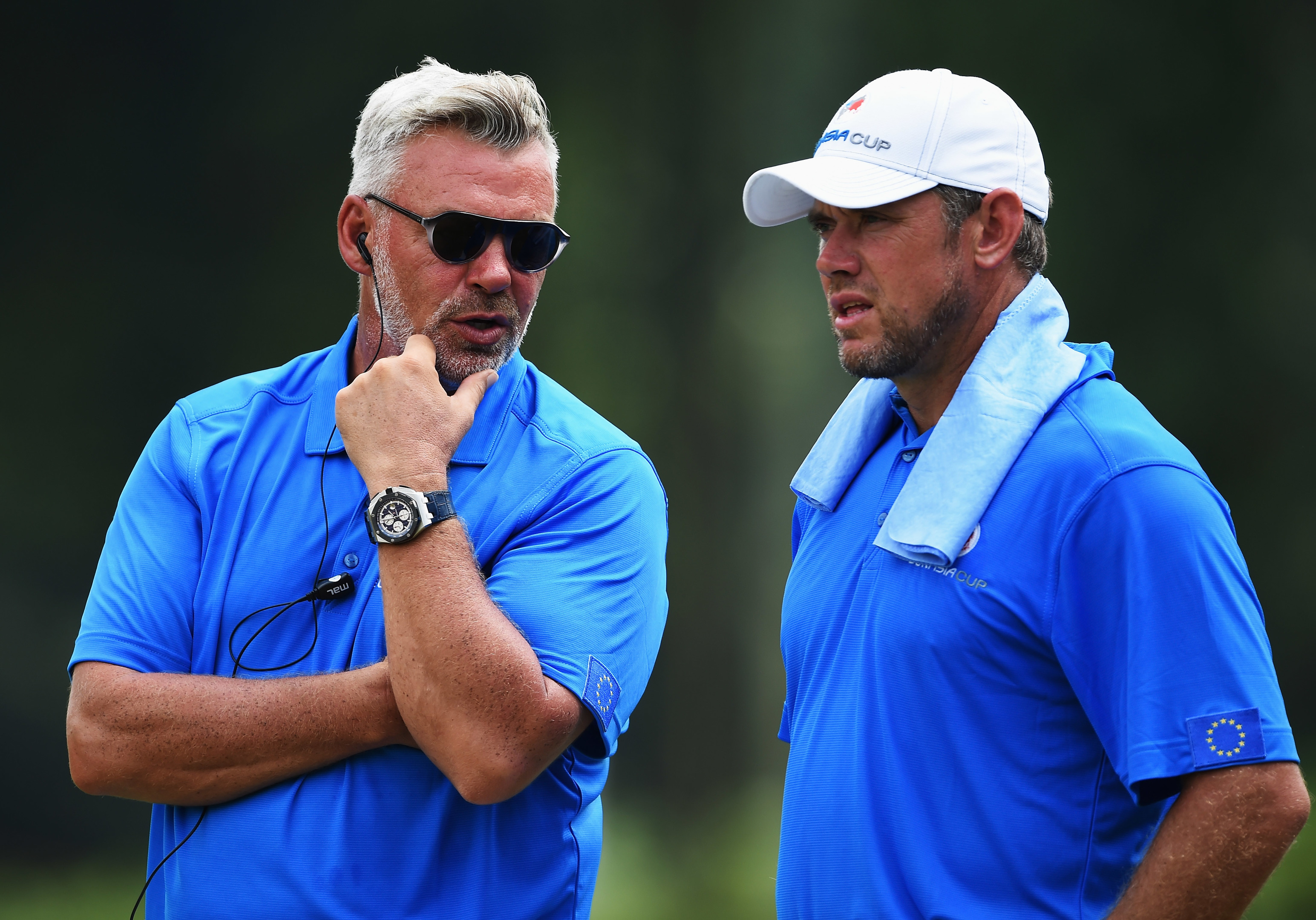 Thick as thieves - Darren Clarke and Lee Westwood.