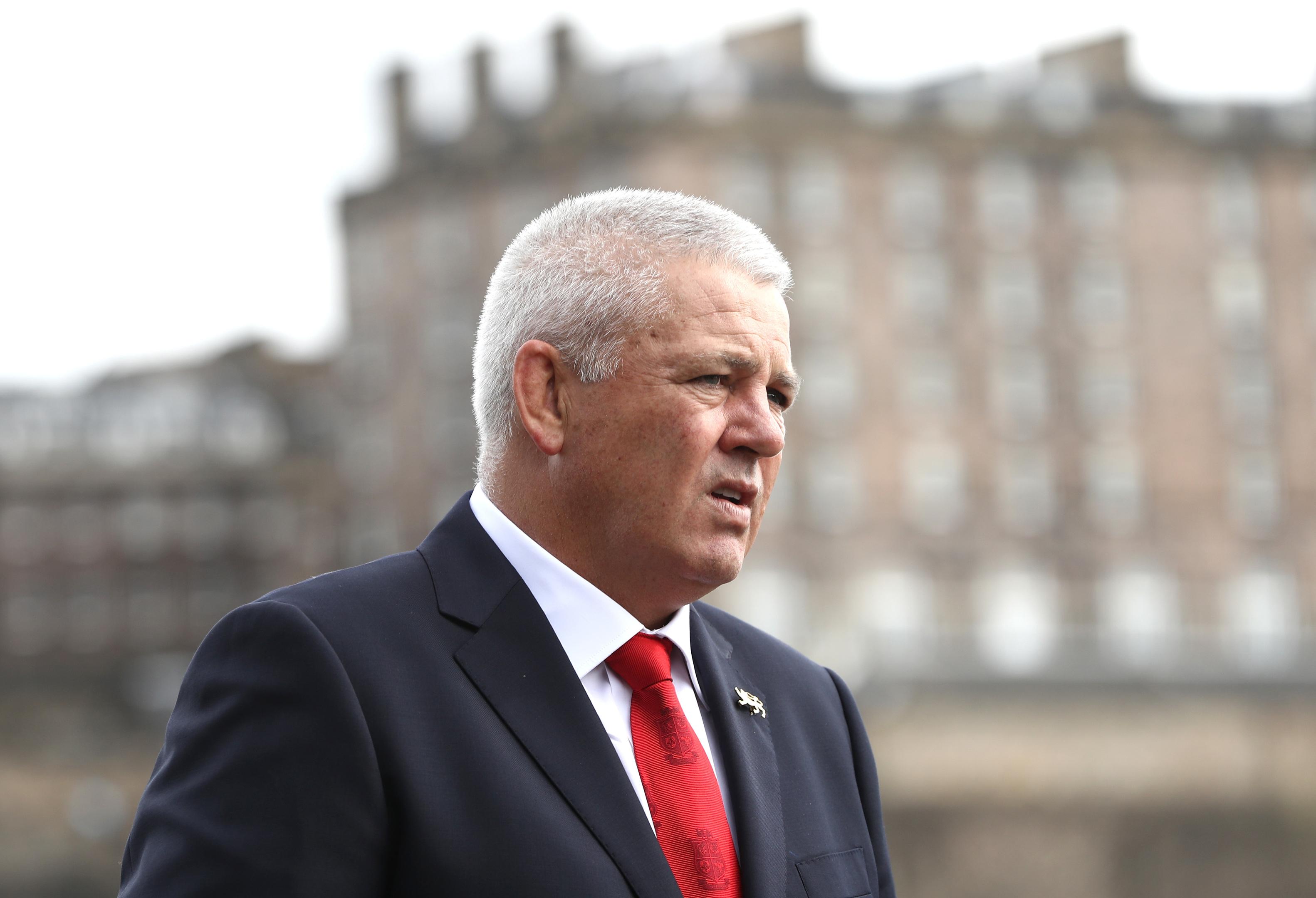 A pensive Warren Gatland at the Lions head coach announcement in Edinburgh.