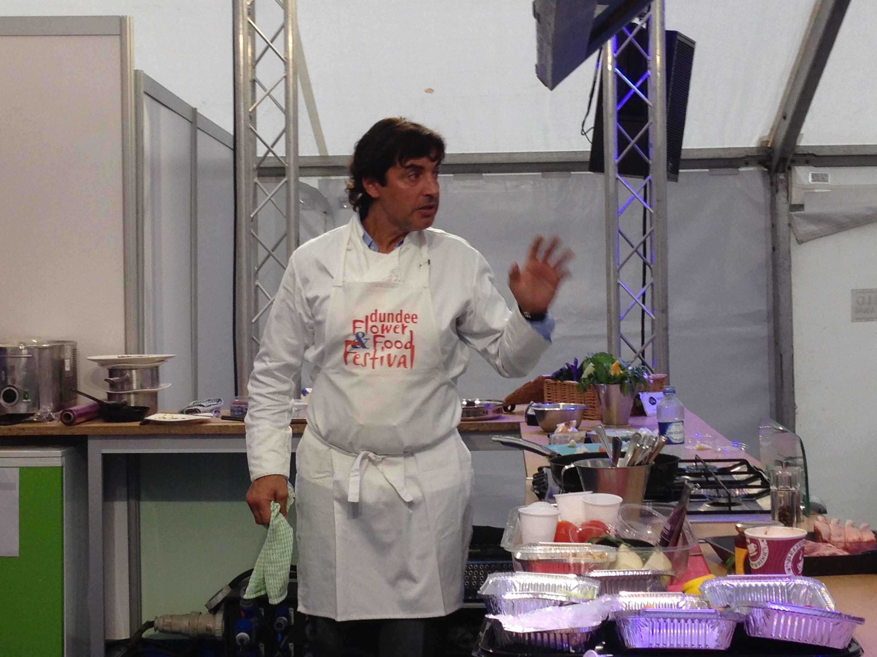 Jean-Christophe Novelli entertains and inspires in the Food Festival Kitchen.