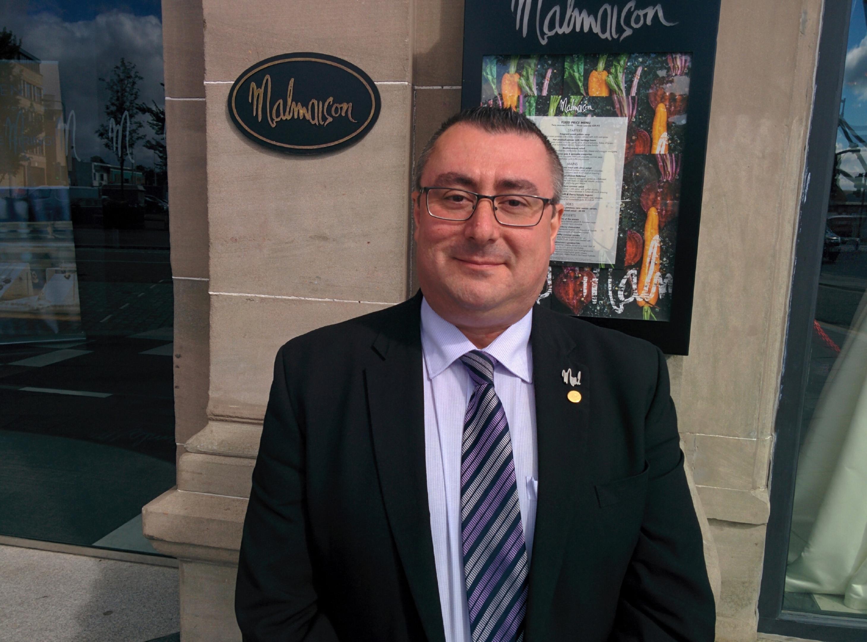 Malmaison Dundee general manager Brett Ingle