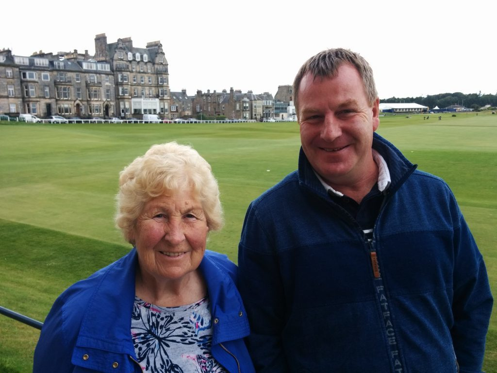 Thomas Cullen of Kennoway with his mum Helen