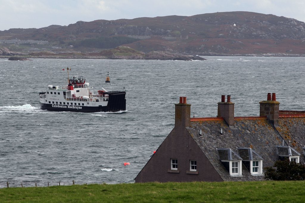A general view of of the Mull to Iona ferry