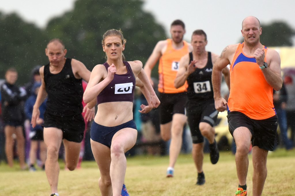 The adult 200m race.
