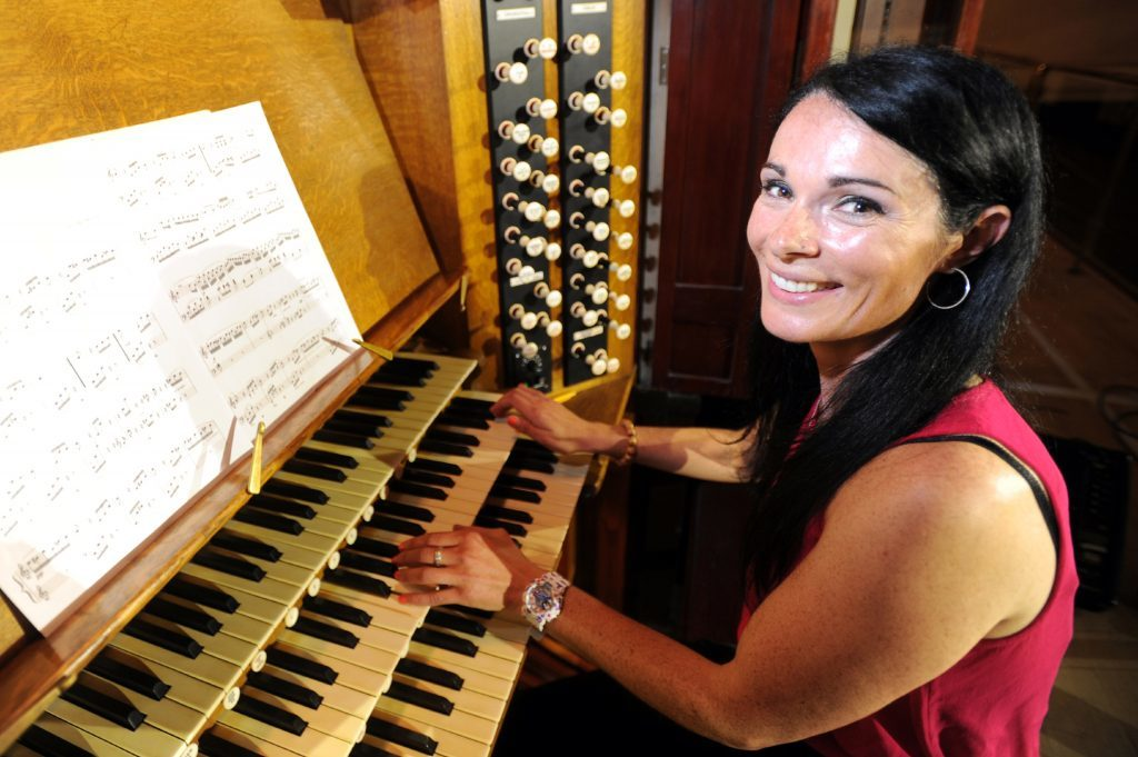 A few bum notes from lapsed pianist Gayle Ritchie as she attempts a rendition of Fur Elise by Beethoven.