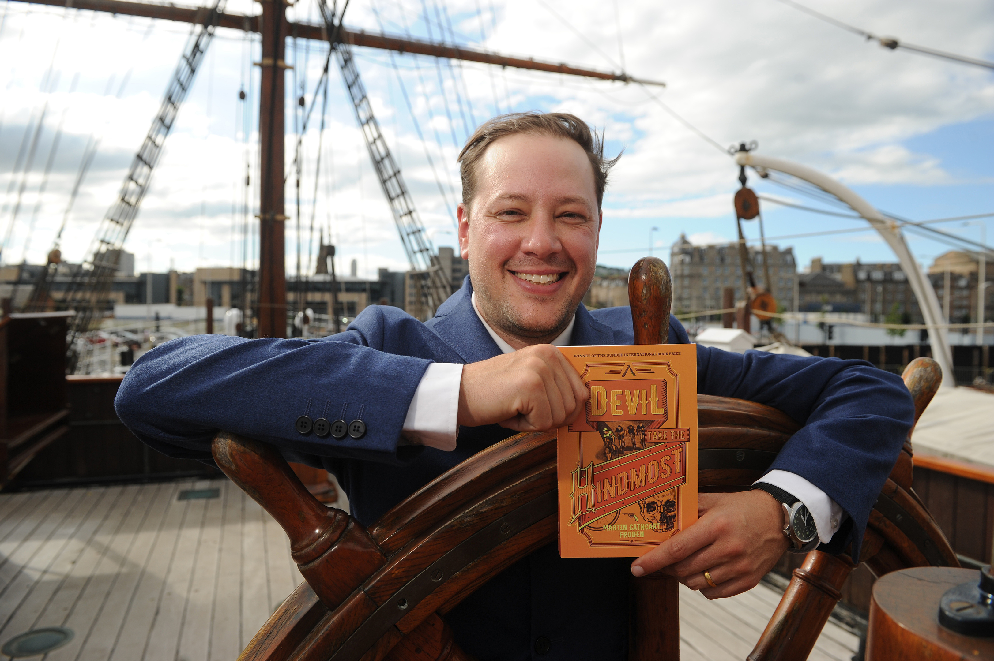 Last year's winner of the Dundee International Book Prize, Martin Cathcart Froden, launched his prizewinning publication 'Devil Take the Hindmost' on the RSS Discovery.