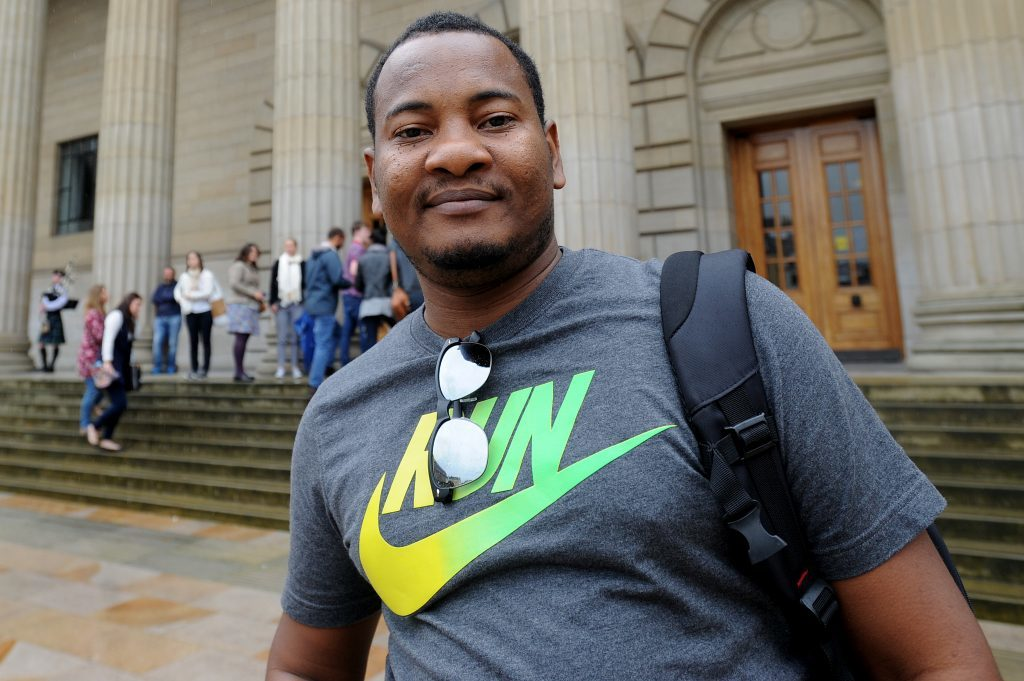 Courier News - Dundee - Dundee story - the University of Dundee gave a welcome in the Caird Hall to fresher students arriving to study in the city for the first time. Picture Shows; Rashid Ali, City Square, Dundee, Monday 05 September 2016