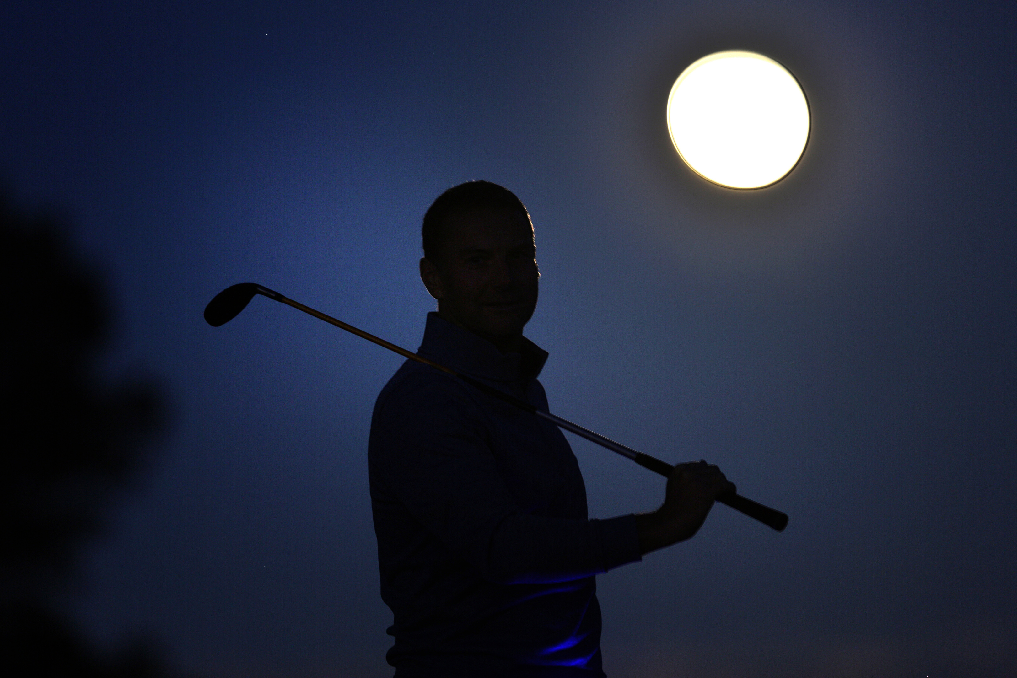 Nite Golf comes to Monifieth. Mark Blyth was one of the first to tee off.