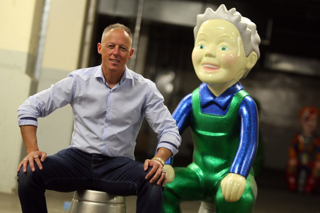John Black, owner of the Fort Hotel, with Night on the Toon Wullie.