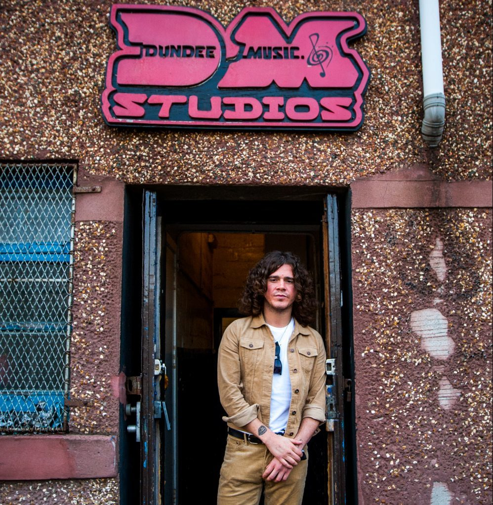 Kyle Falconer outside DM Studios in Dundee