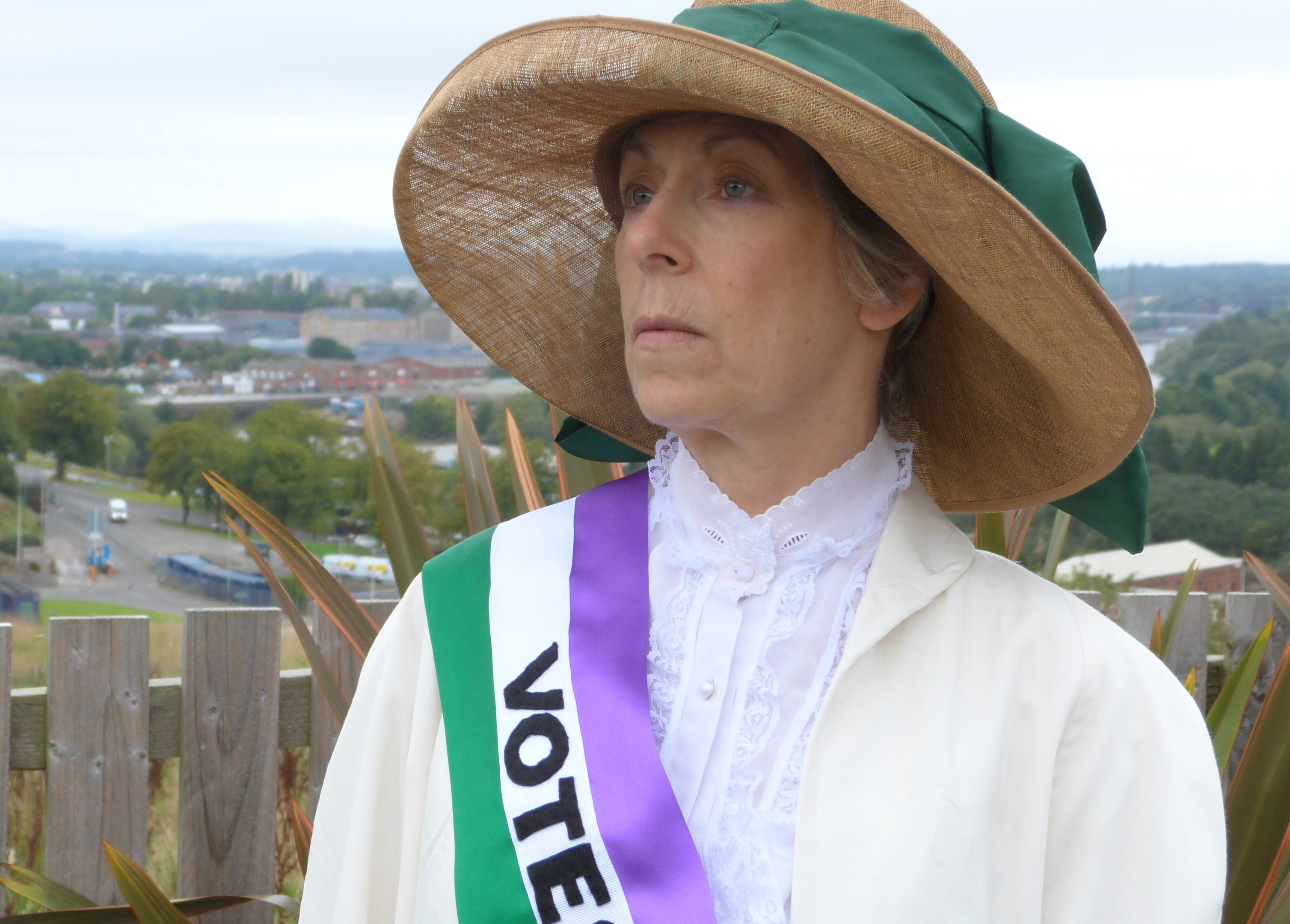 Actress Linda Coupar,  as suffragette Frances Gordon.