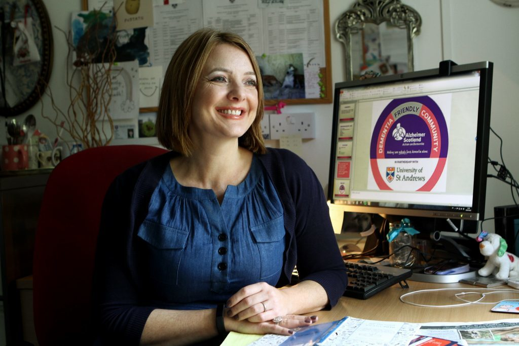 Dr Maggie Ellis in her office at St Andrews University