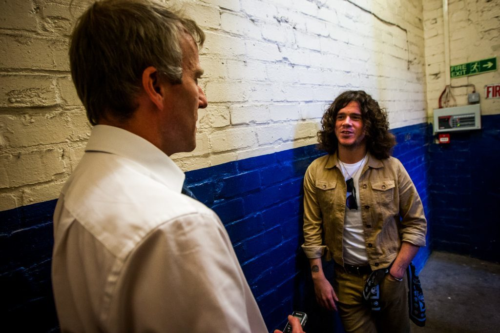The Couriers Michael Alexander chats with with Kyle Falconer at DM Studios in Dundee,