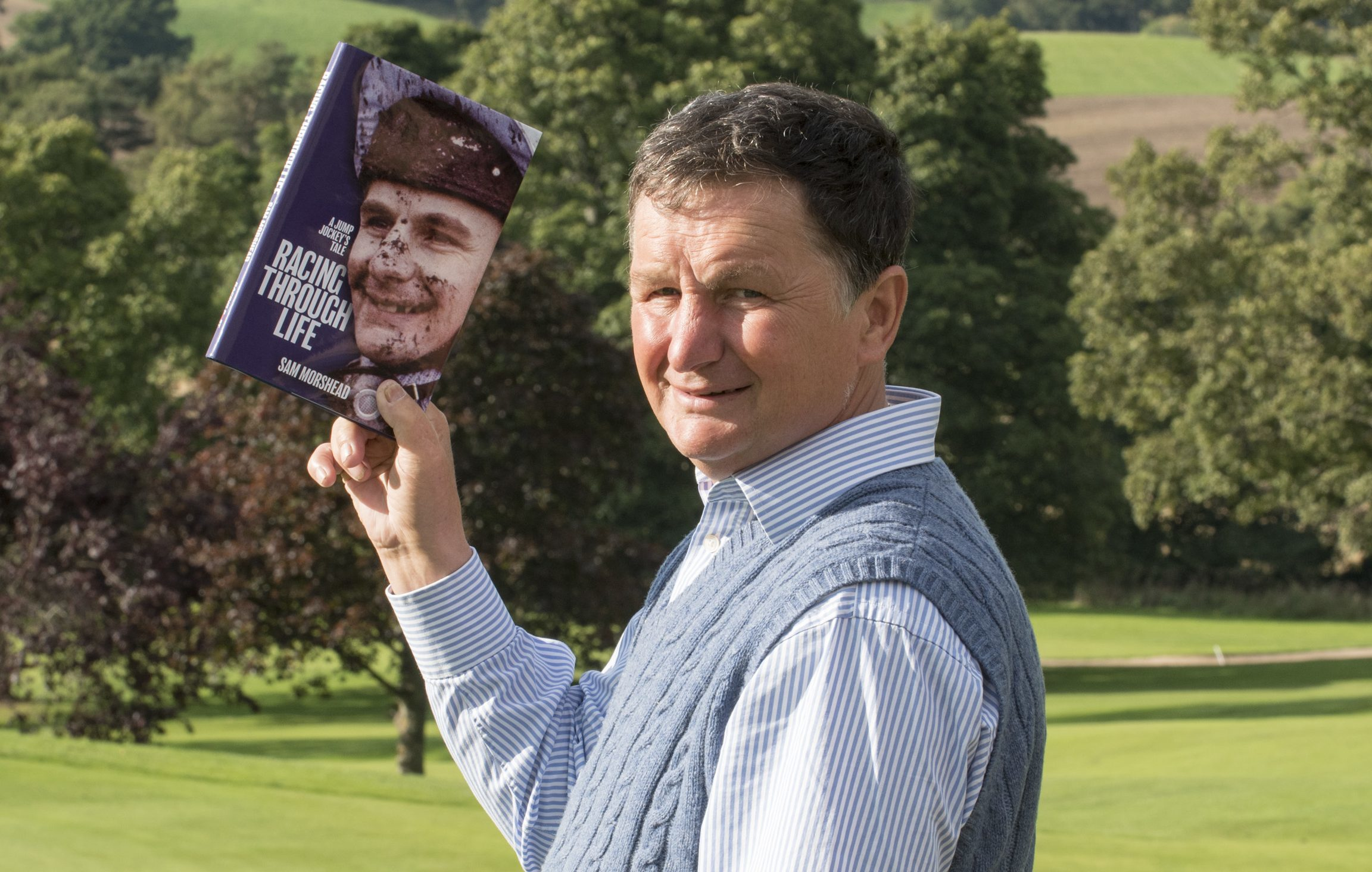 Sam Morshead with his book.