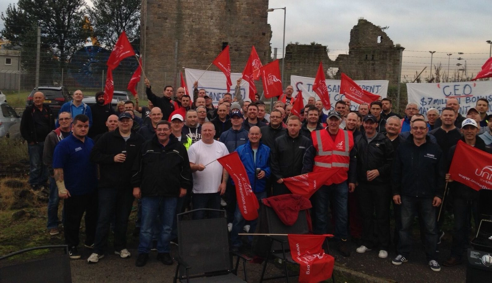 Staff at Oceaneering walked out earlier this month.