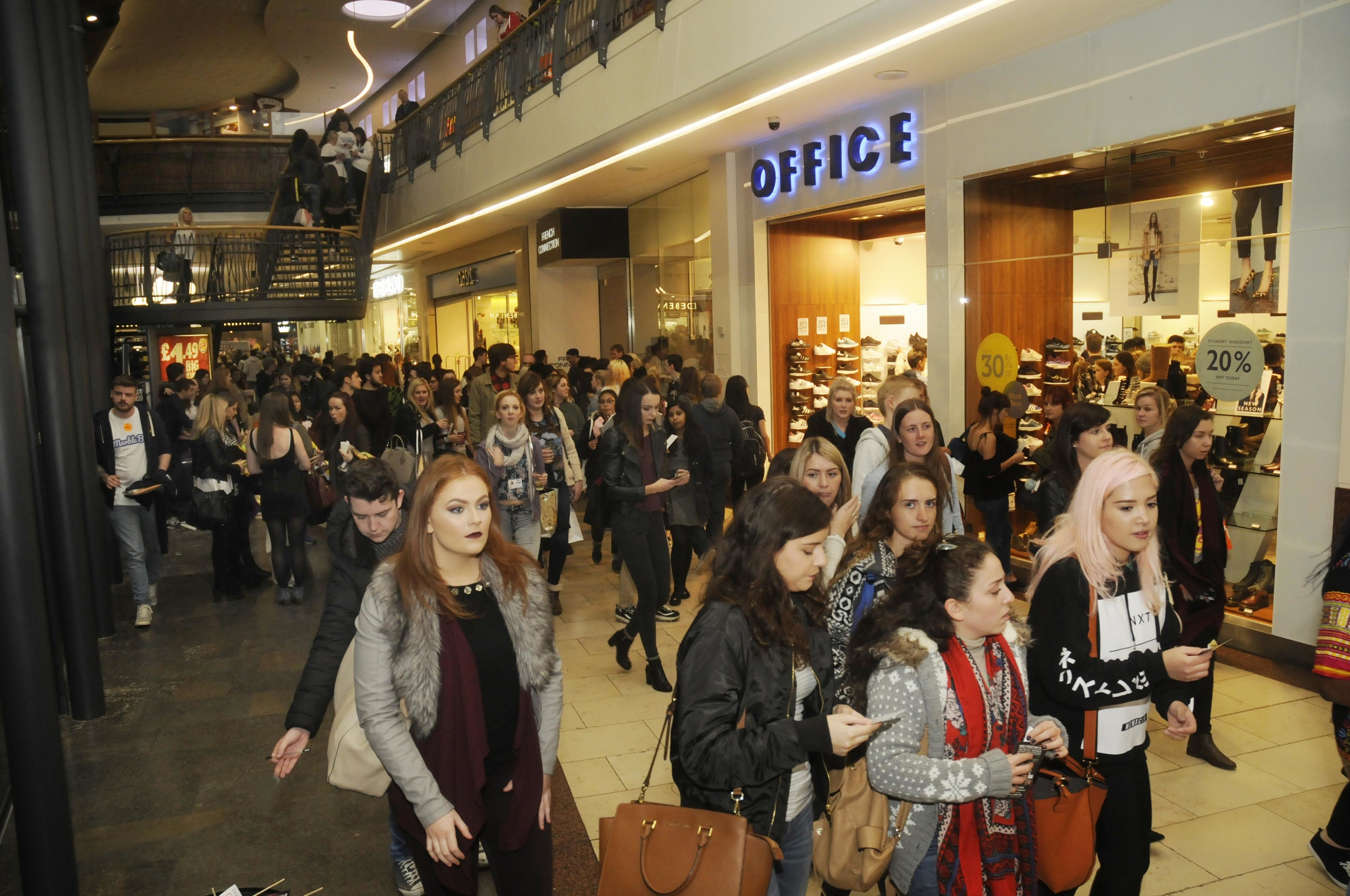 People may be more reluctant to shop in busy places