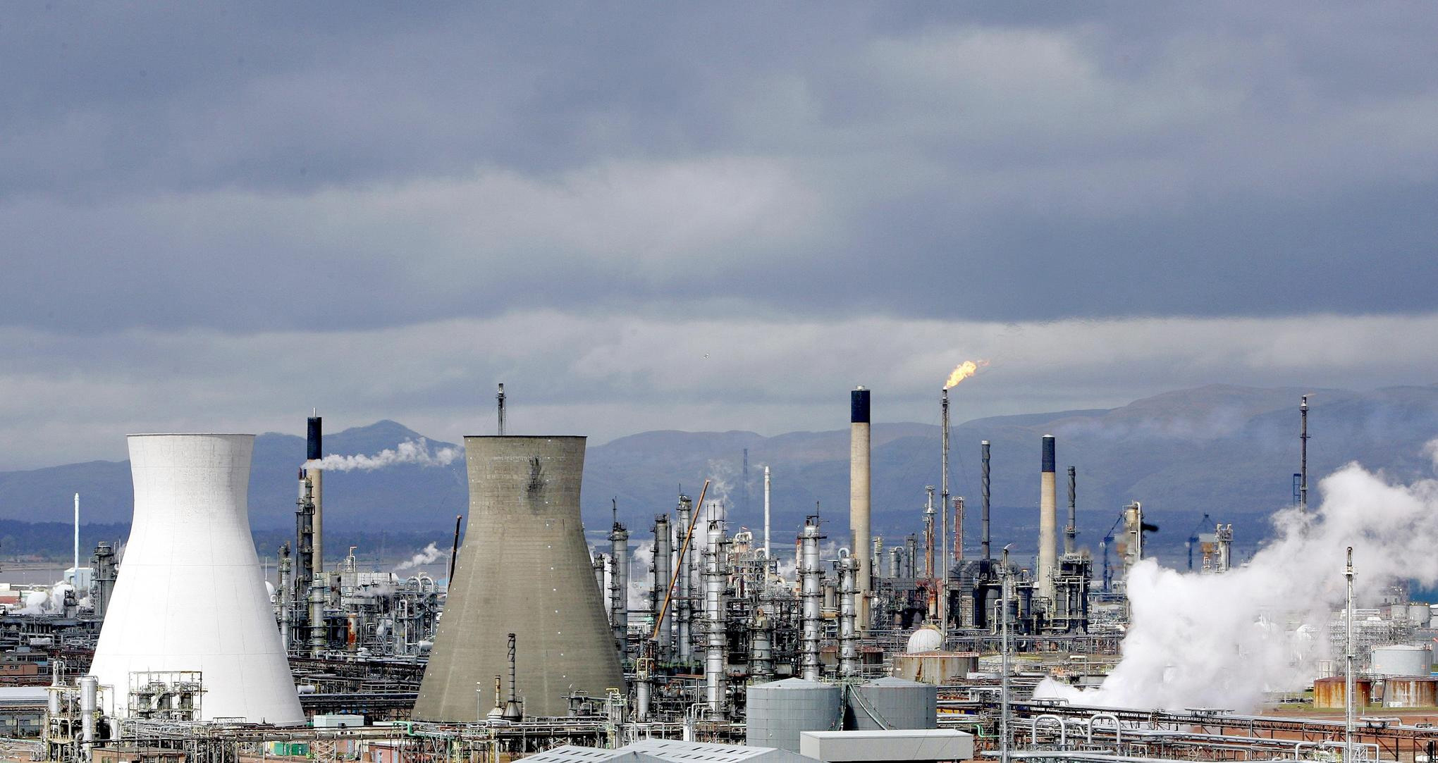 The INEOS refinery at Grangemouth, Scotland.