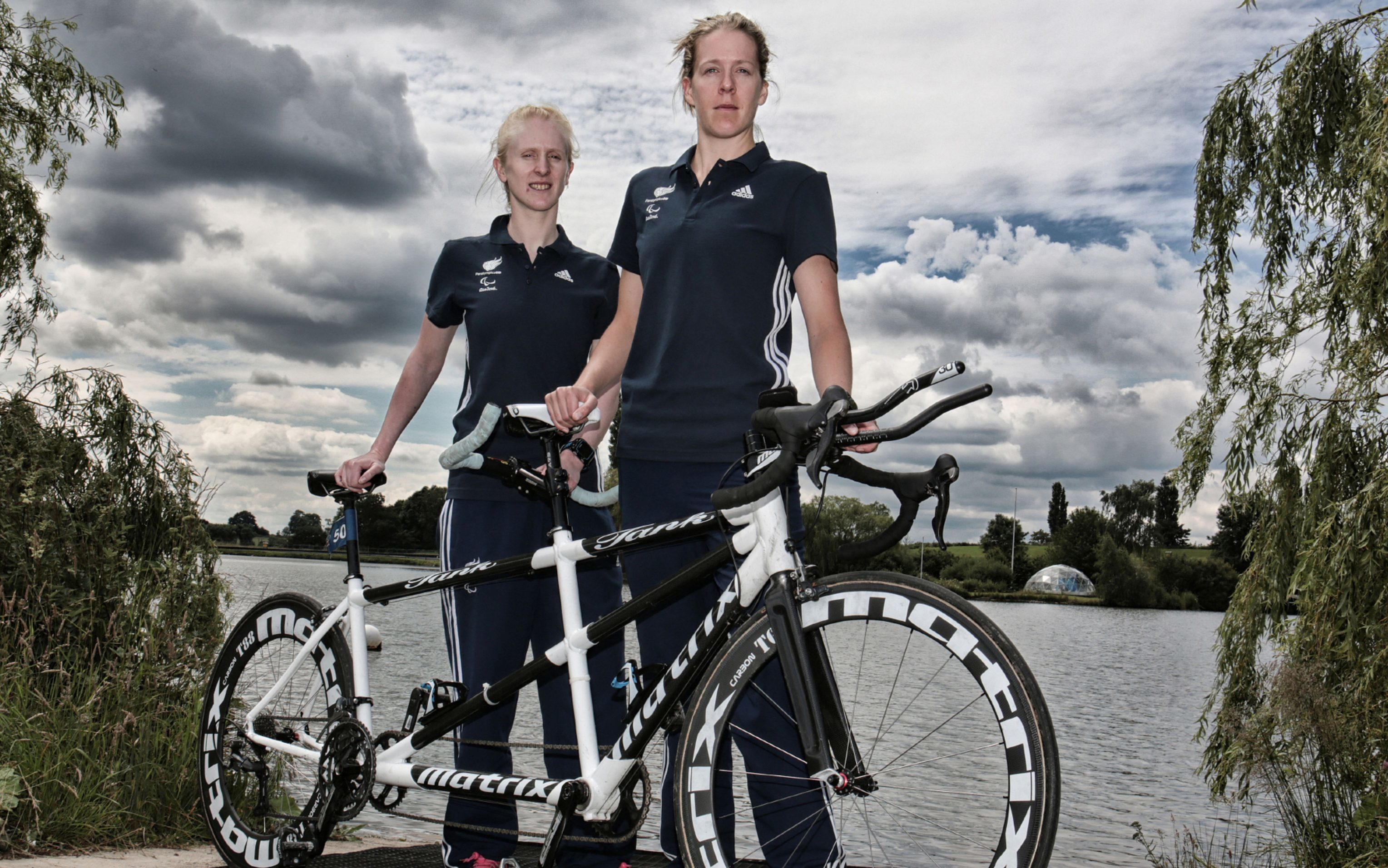 Alison Patrick with (right) athlete guide Hazel Smith