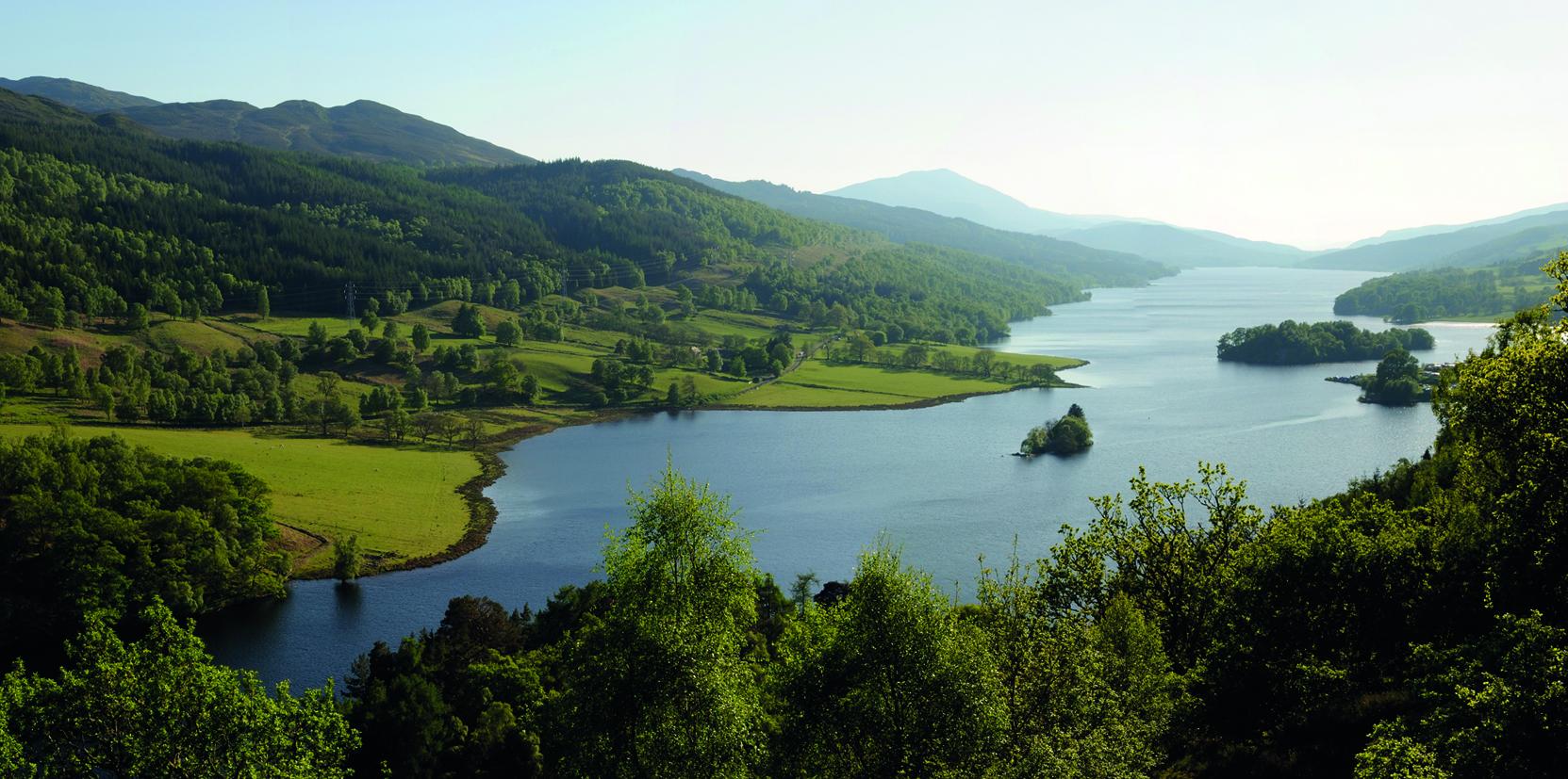 The Queens View at Loch Tummel