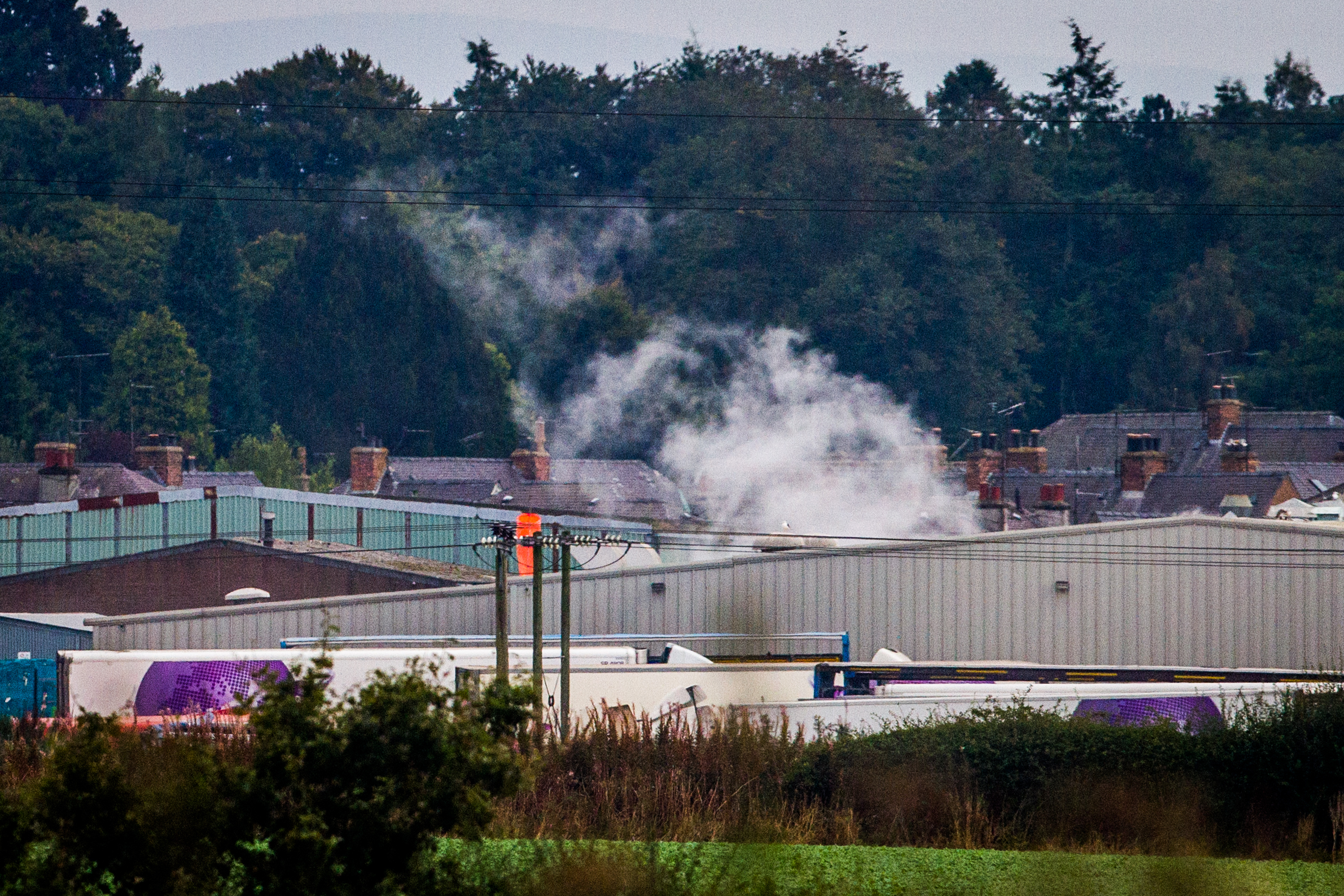 Coupar Angus chicken factory. Picture shows a distant view of the factory.