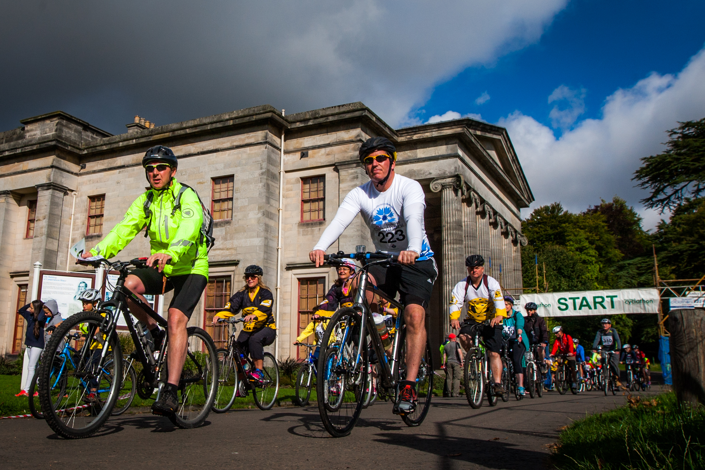 Competitors taking part in last year's Cyclathon.