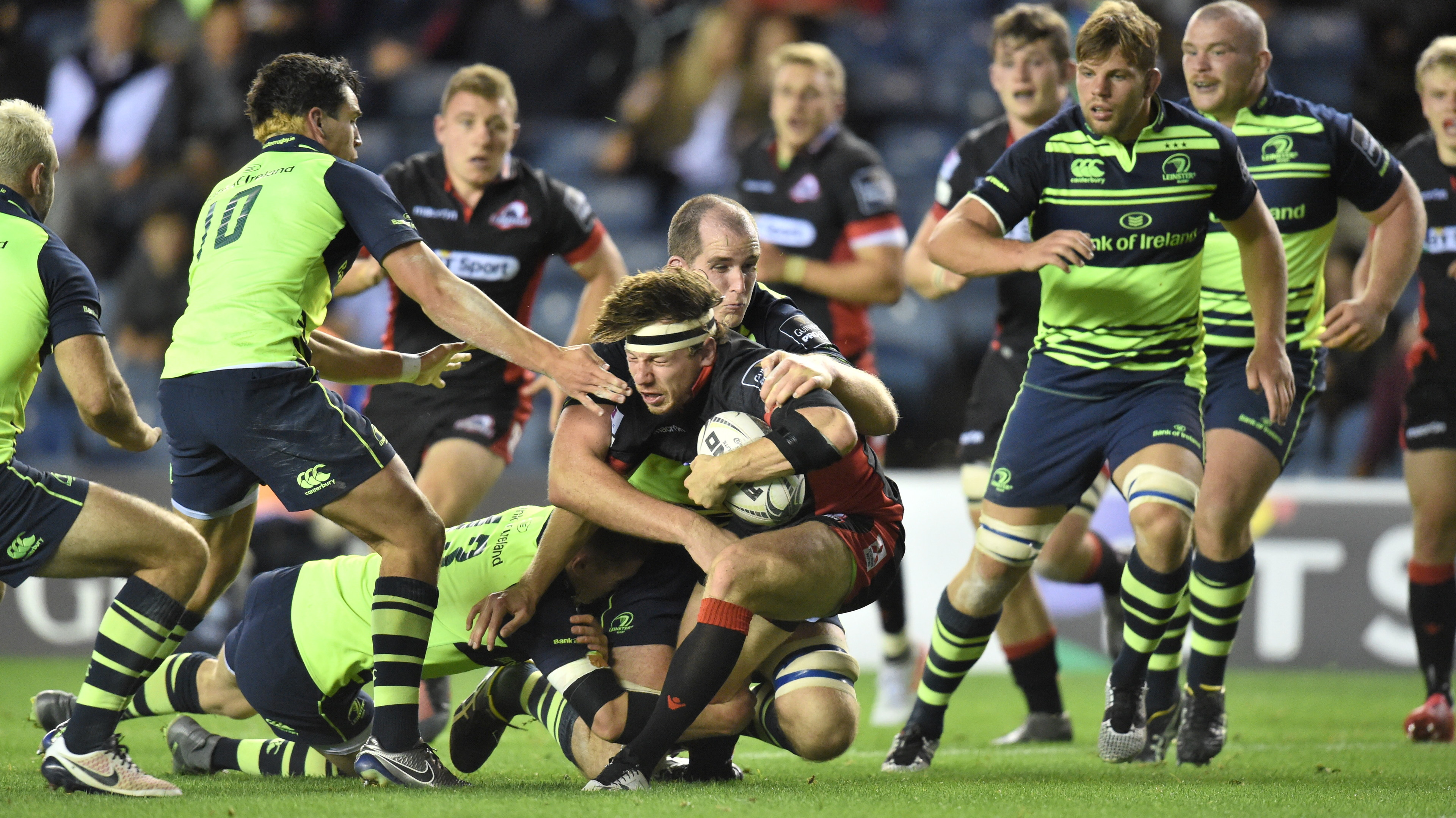 Hamish Watson scores a second half try for Edinburgh, but they'd left themselves too much to do against Leinster.