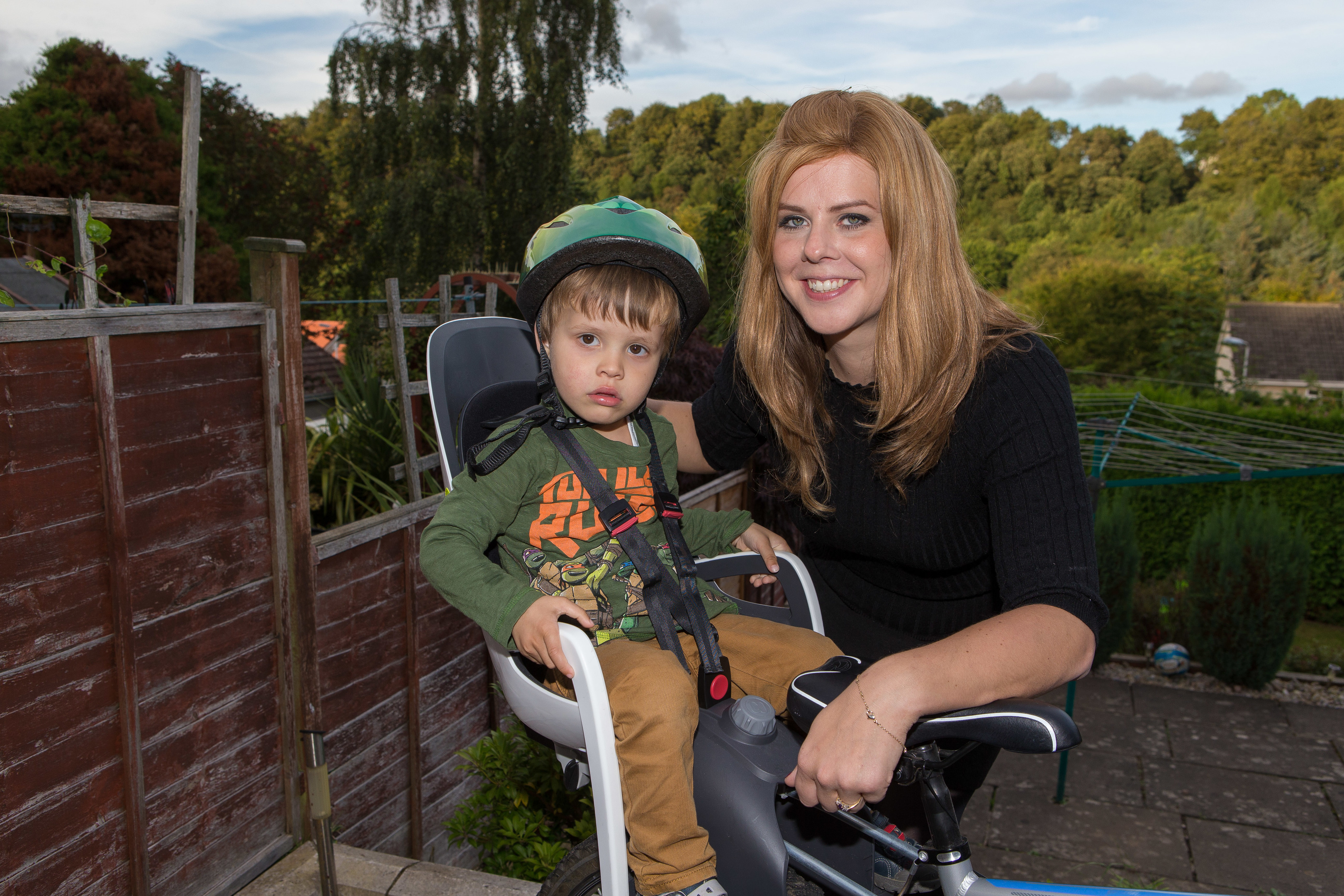 Lindsey Mitchell and son Charlie