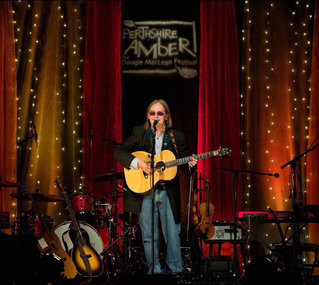 Dougie MacLean performing at last year's Perthshire Amber.