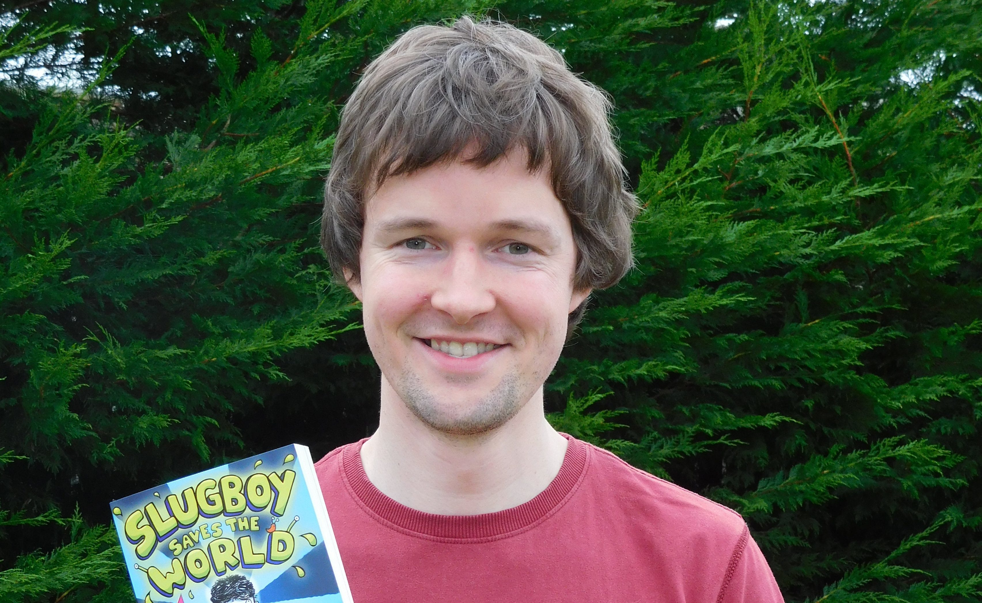Mark Smith with his book.