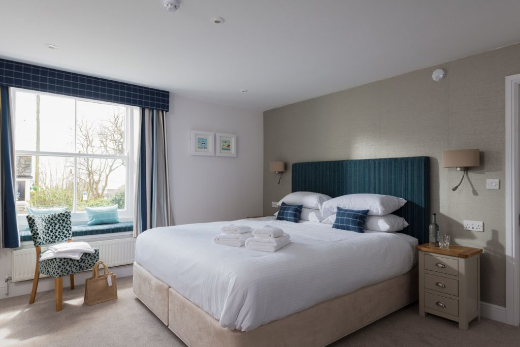 One of the bedrooms at The Rashleigh Arms.