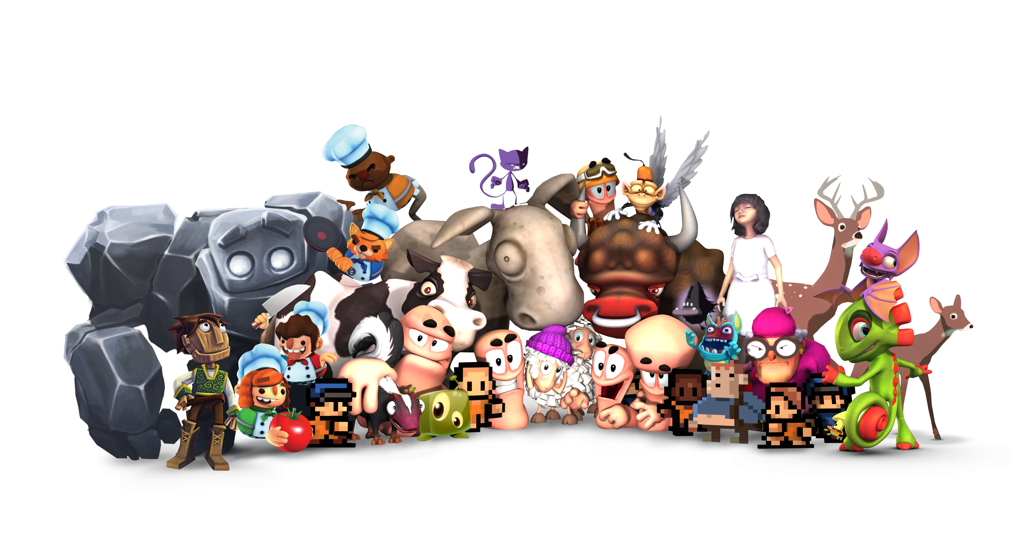 Team17 games characters