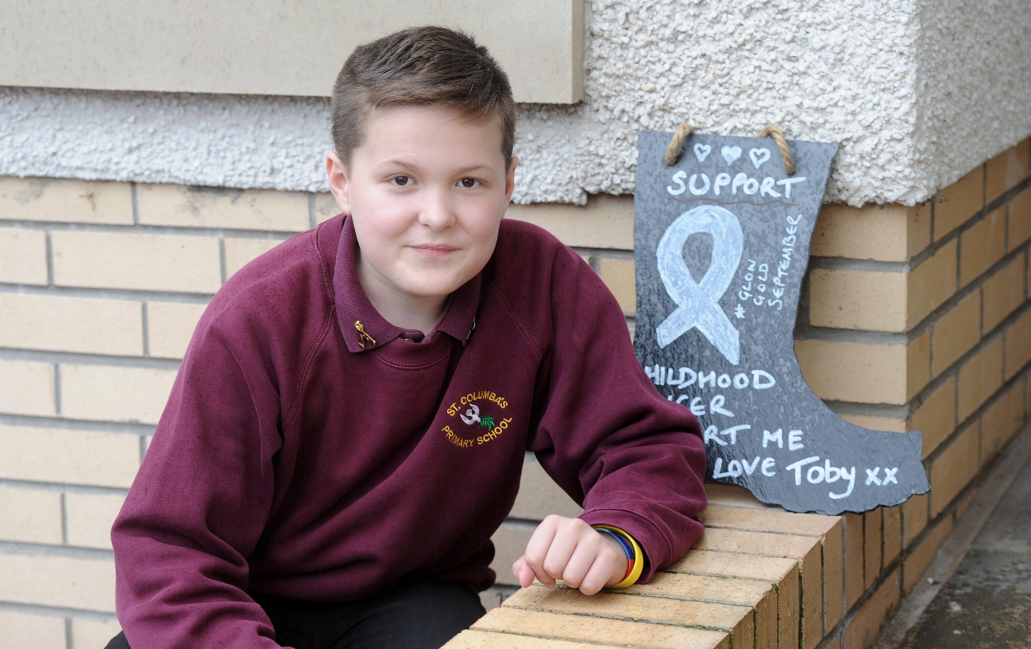 Young cancer battler Toby Etheridge