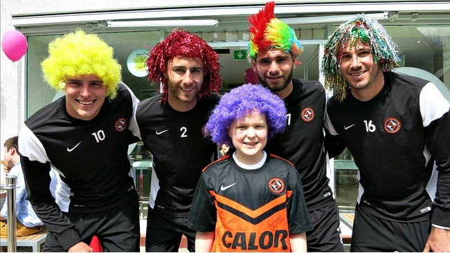Toby was surprised by Dundee United players